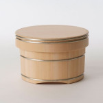 Wooden container for cooked rice