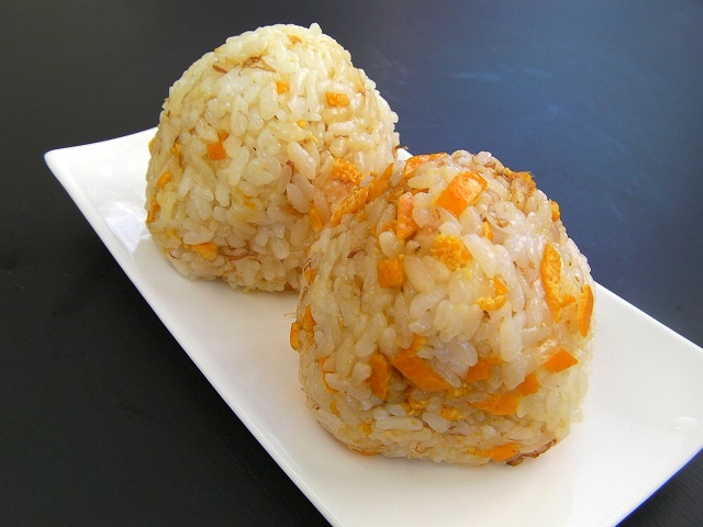 orange onigiri japanese food (20)