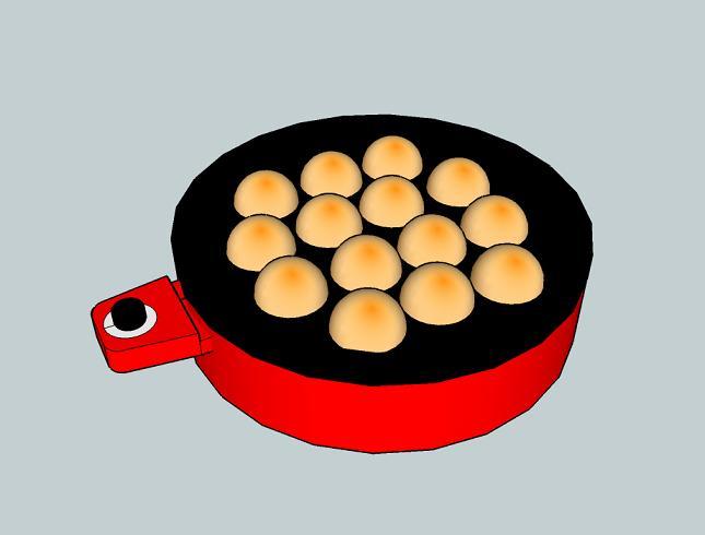 Takoyaki pan(Fried octopus dough balls pan)