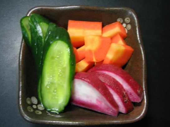 Japanese pickled vegetables picture1