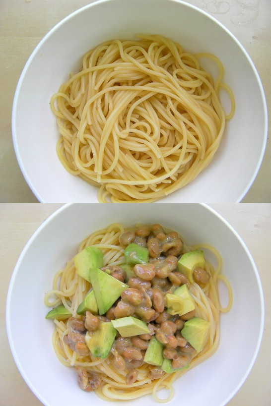 Avocado and the natto spaghetti recipe (3)new5