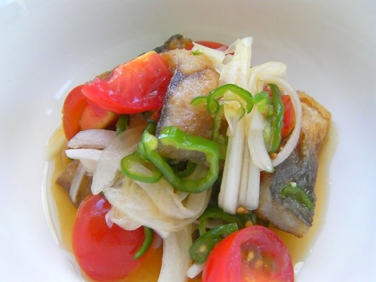 Fish marinated in spicy sour sauce -Nanban Zuke- (2)