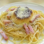 Carbonara with Pucchin Purin