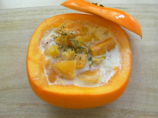 Persimmon potage soup (4)