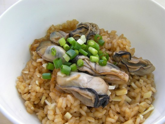 Rice cooked oyster and ginger (4)