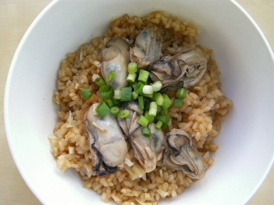 Rice cooked oyster and ginger (8)