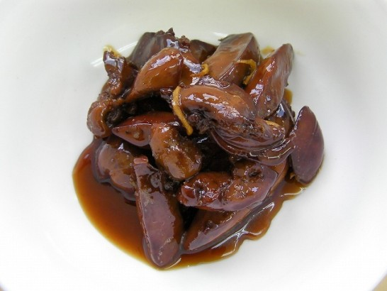 Stewed chicken lever with sugar and soy sauce (3)