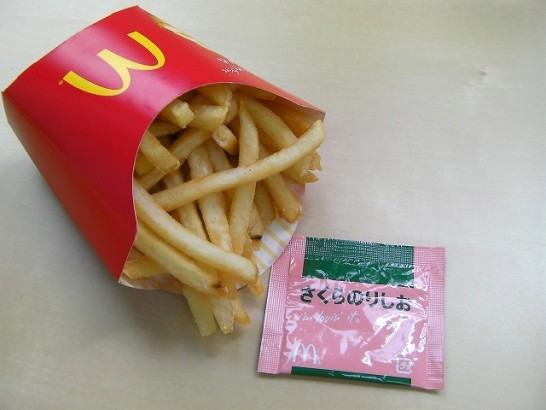 This photo is Sakura salt for fried potato in McDonald's (4).